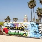 Art walls on Venice beach, Los Angeles, California, USA — Stock Photo