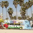 Stock Photo: Art walls on Venice beach, Los Angeles, California, USA