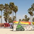 Art walls on Venice beach, Los Angeles, California, USA — Lizenzfreies Foto
