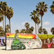 Art walls on Venice beach, Los Angeles, California, USA — Stock Photo #11718708