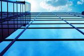 Business center windows — Stock Photo