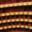 Balconies of Vienna Opera House — Stock Photo