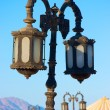 Royalty-Free Stock Photo: Old rusty street lamps on the beach