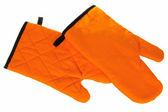 Oranžové cvočky pro kuchyň izolovaných na bílém — Stock fotografie