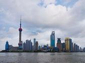 Panoramic view of The Bund (Wai Tan) in Shanghai, China — Stock Photo