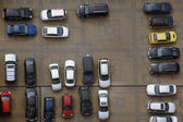 Parking lot from high above — Stock Photo
