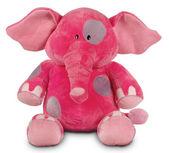 Pink funny elephant isolated on white background — Stock Photo
