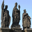 Statuary at the Carls Bridge in Prague — Stock Photo