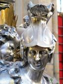 Silver holy figure in the cathedral of prague — Стоковое фото