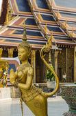 Golden Kinnari of Wat Phra Kaew — Stock Photo
