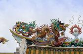 Colorful dragon statue — Stock Photo