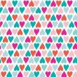 Hearts pattern - Image vectorielle