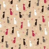 Cats pattern — Stock Vector