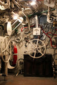 Cockpit of an Italian submarine of World War I — Stock Photo