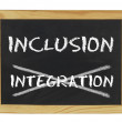 Stock Photo: Inclusion istead of integration