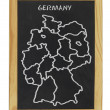 Royalty-Free Stock Photo: Map of germany on a chalkboard