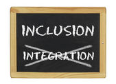 Inclusion istead of integration — Stock Photo
