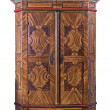 Stock Photo: Antique painted wooden wardrobe