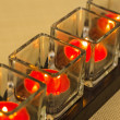 Stock Photo: Burning tealights