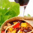 Burrito with meat and beans — Stock Photo