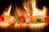 果物のバーベキュー — ストック写真