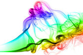 Incense smoke colored in various colors, on white background — Stock Photo