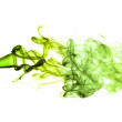 Stock Photo: Green horizontal smoke