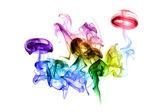 Colorful smoke forms — Stock Photo
