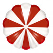 Red and White Parachute — Stock Photo