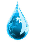 Green Earth Droplet — Stock Photo