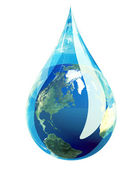 Earth Water Drop — Stock Photo