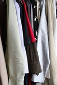 Clothes in a closet — Stock Photo