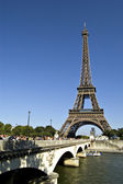The Eiffel tower in Paris.France — Stock Photo