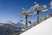 Lifts on the slopes of San Vito di Cadore — Stock Photo