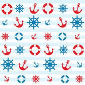 Sea theme pattern — Stock Vector