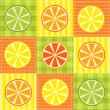 Patchwork with lemon, lime, orange and grapefruit — Stock Vector