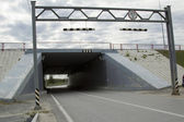 туннель под дорогой — Стоковое фото