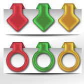 Renk klipler — Stok Vektör