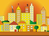 City illustration — Stock Photo