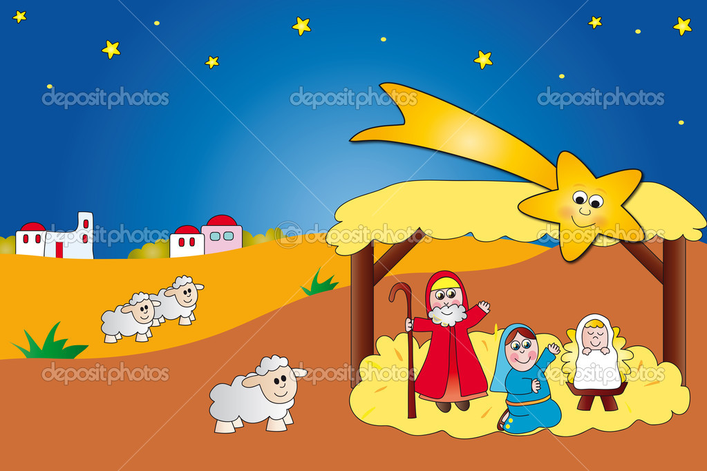 Illustration of nativity — Stock Photo #11015583