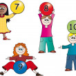Kids numbers — Stock Photo