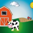 Farm animal cartoon — Stok fotoğraf