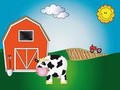 Farm animal cartoon — Stock Photo
