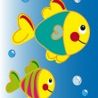 Cartoon fish - Stock Photo