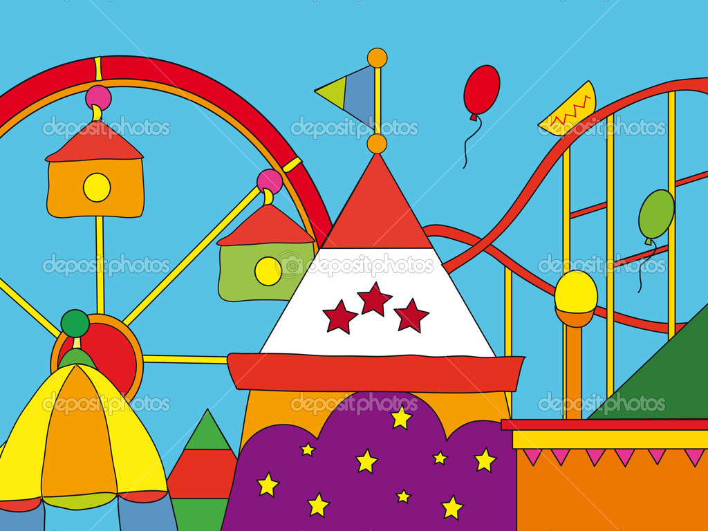 Amusement park cartoon — Stock Photo #11935227