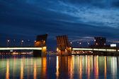 Bridge Alexander Nevsky — Stock Photo
