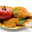 Stock Photo: Chickens thigh with tomato