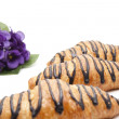 Stock Photo: Croissant with flowers
