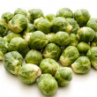 Brussels sprouts in heart form — Stock Photo