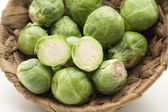 Brussels sprouts in the basket — Stock Photo